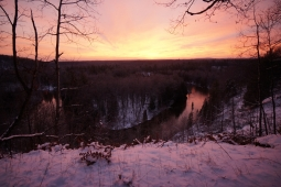 North Country Trail - HWY 131 to Mesick, MI - Dec 2015