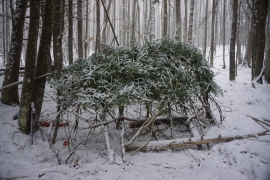 pigeon river winter camping 13