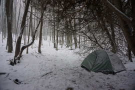 pigeon river winter camping 14
