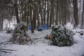 pigeon river winter camping 15