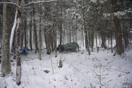 pigeon river winter camping 10
