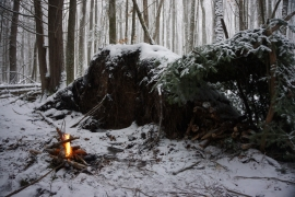 pigeon river winter camping 6