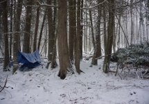 pigeon river winter camping 12