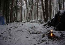 pigeon river winter camping 7
