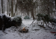 pigeon river winter camping 8