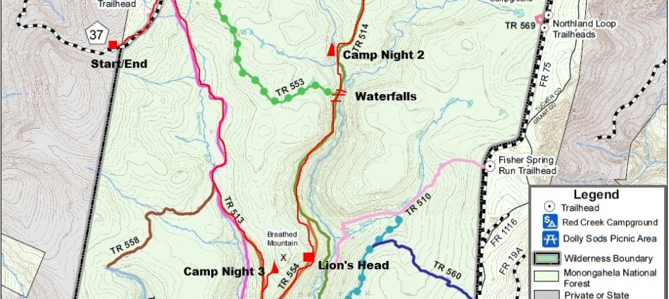 Dolly-Sods-Wilderness-Trail-Map-950x425 - Seeking Lost: Hiking ...