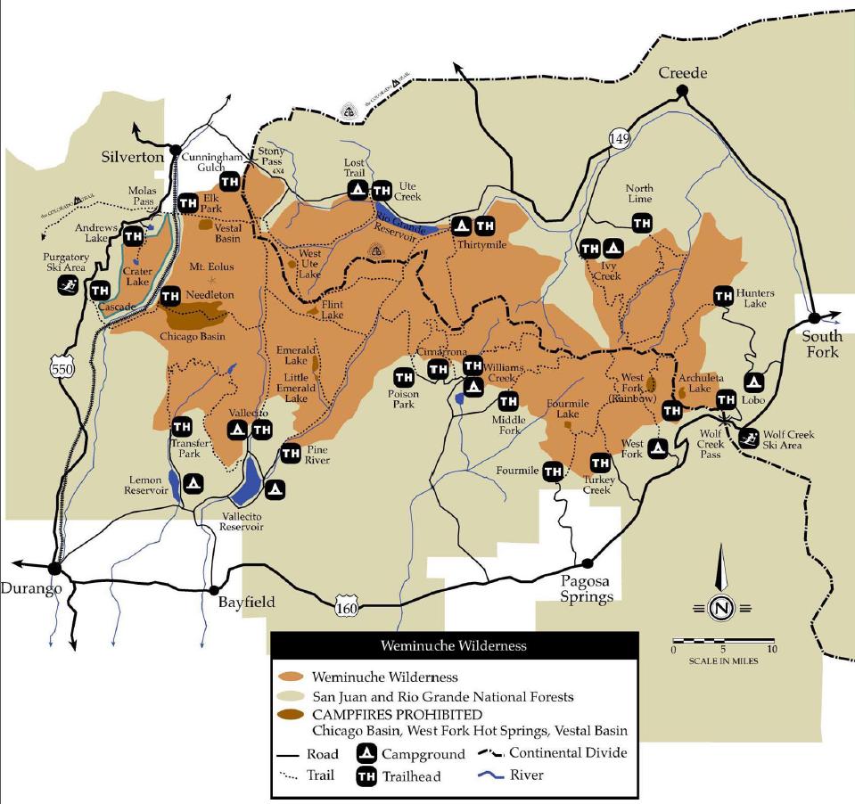Weminuche Wilderness Map Weminuche Wilderness Map   Seeking Lost: Hiking & Backpacking