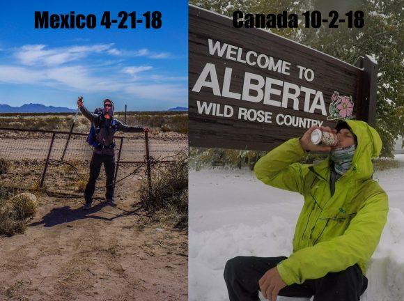 cdt thru hike border pictures, aka summit photo